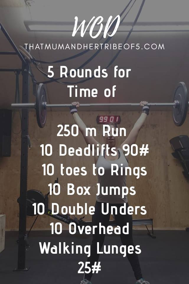 Crossfit WOD for fitness and health lovers